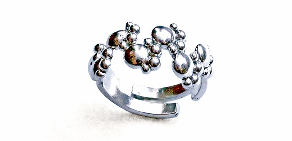 anello-zampette-argento